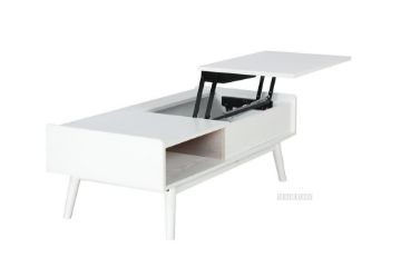 Picture of Lila Mid Century Pop Up Coffee Table *White