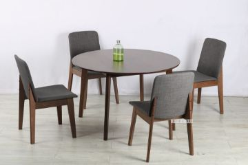 Picture of Eden 120 Round 5Pc Dining Set *Charcoal