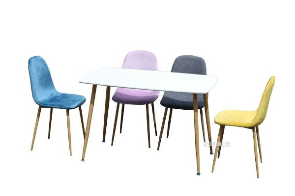 Picture of OSLO Dining Table with 4 Chairs *3colours