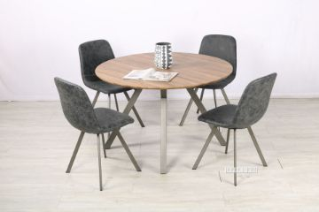 Picture of PLAZA 120 Round Dining Set *Dark Grey
