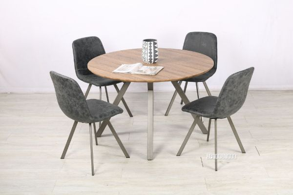 Picture of PLAZA 120 Round Dining Set *Dark Grey