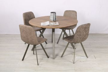 Picture of PLAZA 120 Round Dining Set *Brown