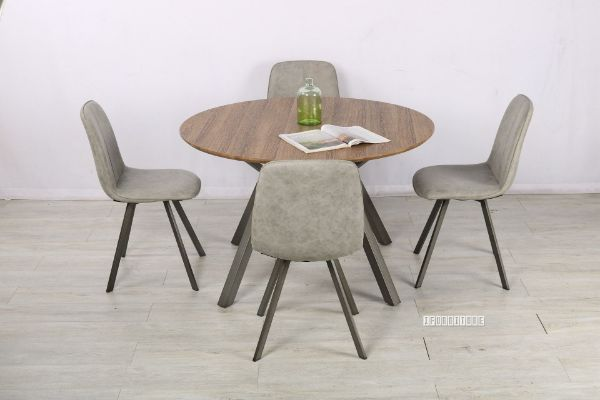Picture of PLAZA 120 Round Dining Set *Light Grey