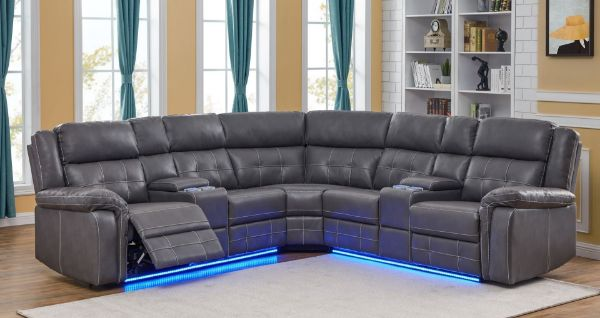 Cobalt Power Manual Reclining Sectional Sofa With