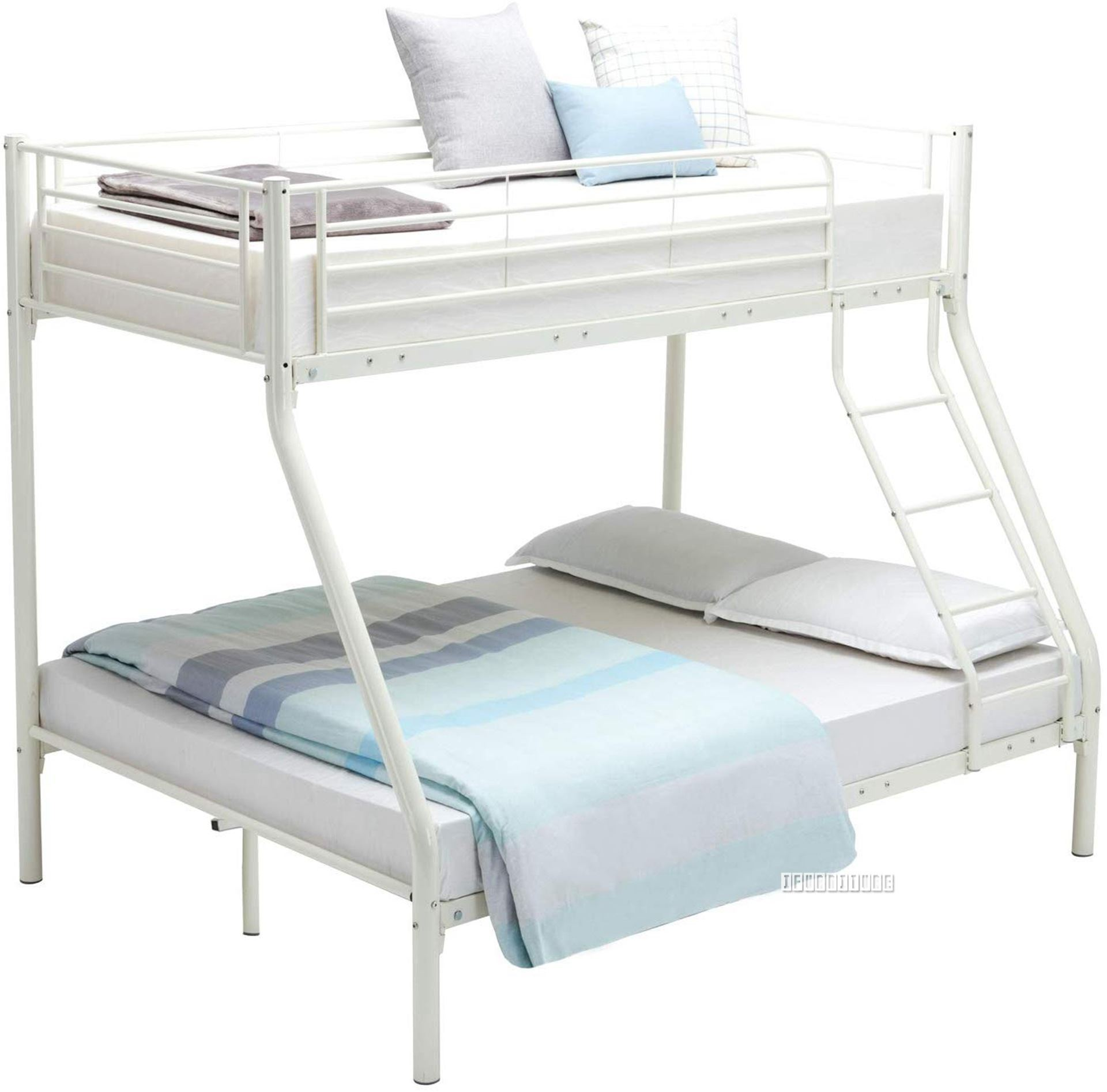Stella Steel frame Single-Double Bunk Bed *White