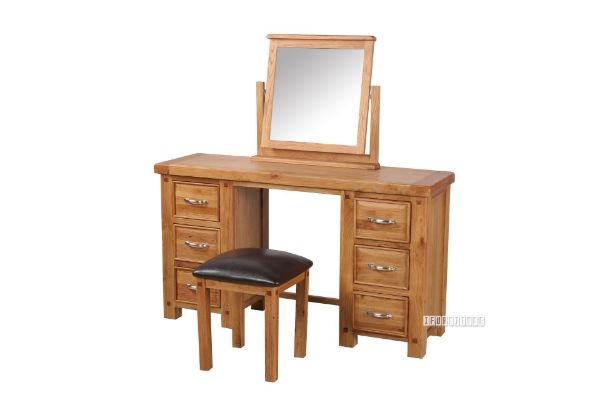 Picture of WESTMINSTER 6Drw Dressing Table with Stool *Solid Oak