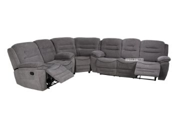 Picture of Napoli Manual Recliner Corner sofa  *Grey