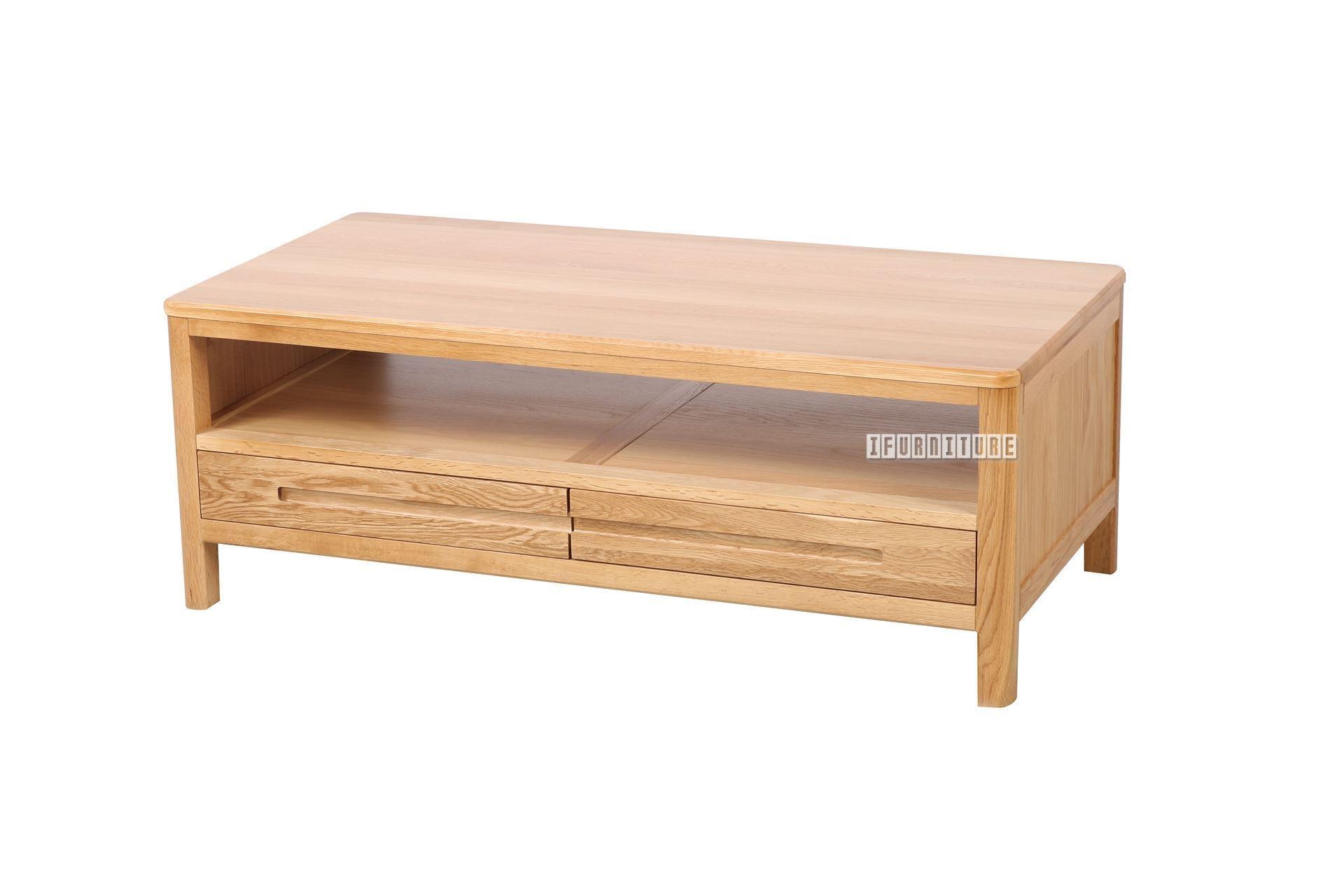 Helsinki 2Drw Coffee Table *Solid Oak