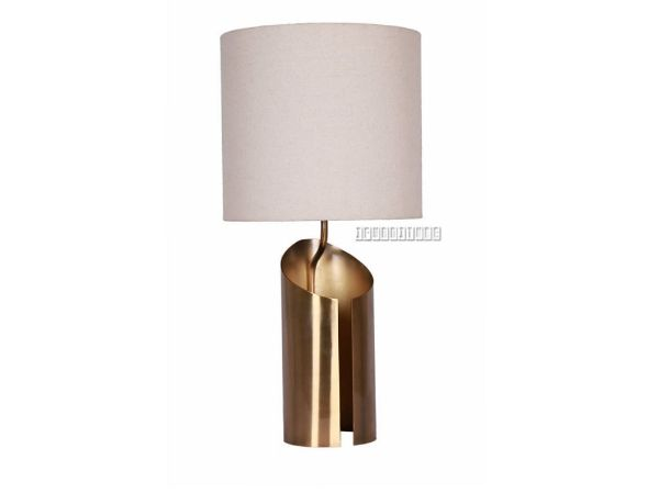 Picture of ML93542 Metal Table Lamp *White & Golden