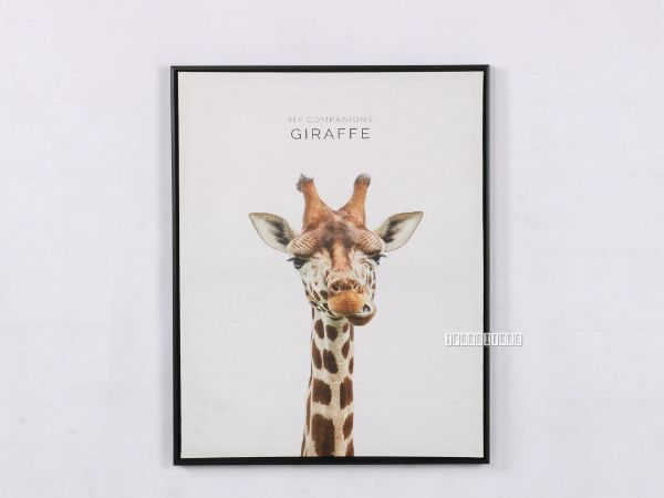 Picture of GIRAFFE 55X70 Canvas Framed Print