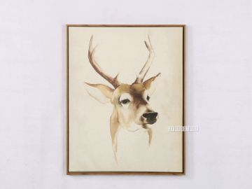 Picture of REINDEER 55X70 Canvas Framed Print