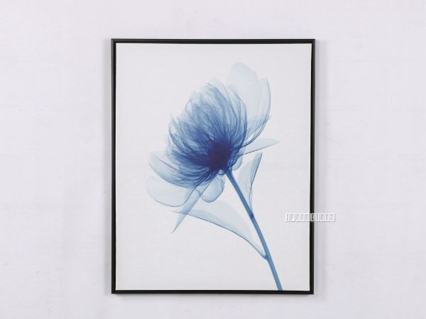 Picture of BLUE FLOWER 55X70 Canvas Framed Print