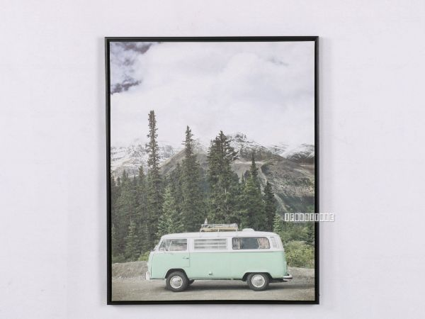 Picture of Green Van 30x40 Canvas Framed Print