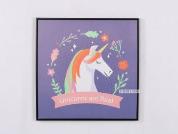 Picture of Unicorns Are real  60x60 Canvas Framed Print