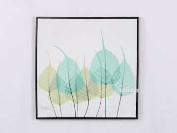 Picture of Green Leaves 60x60 Canvas Framed Print