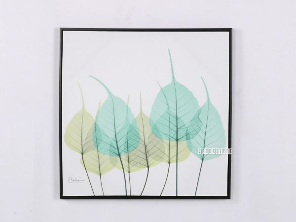 Picture of Green Leaves 40x40 Canvas Framed Print