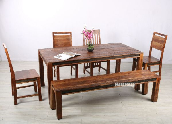 Picture of Nashville Acacia Wood 180/200 Dining Set