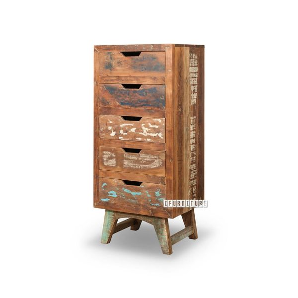 Picture of MALMO 5Drw Solid Recycled Wood Tallboy