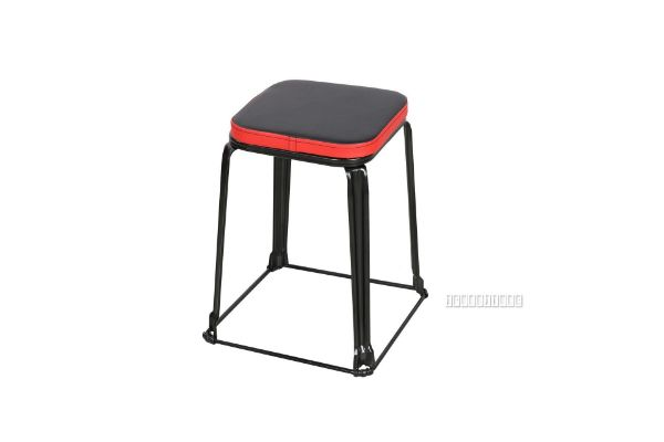 Picture of Mills Small Stool *Black/Red