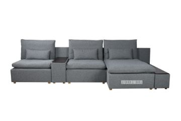Picture of Memphis Modular Sofa in Dark Grey *Feather Filled