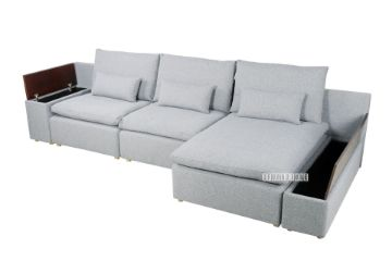 Picture of Memphis Modular Sofa in Light Grey *Feather Filled