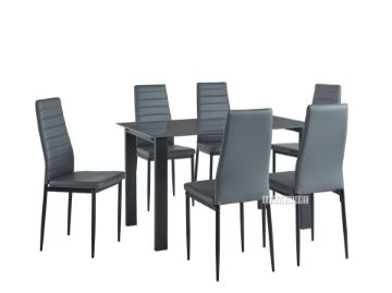 Picture of LENSKY 7PC DINING SET * BLACK