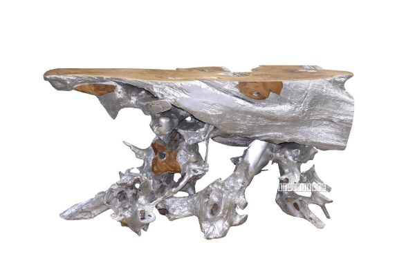 Picture of Tamarind Solid Teak console table *Silver