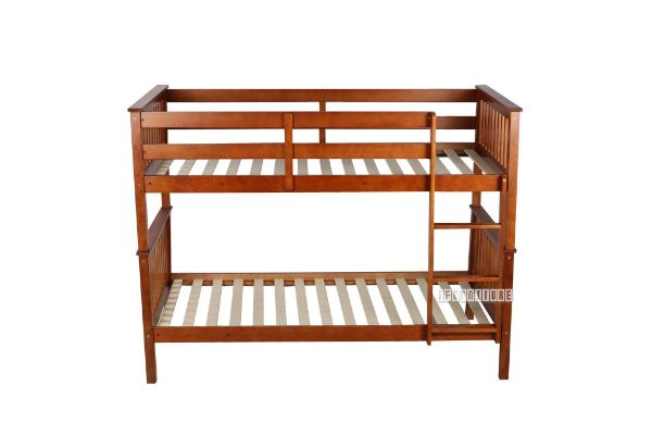 Picture of STARLET Bunk Bed with Storage Single *Warm Honey color