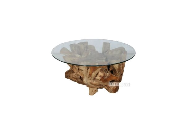 Picture of Tamarind Solid Teak ROUND Coffee Table Brown *2 sizes