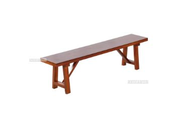 Picture of EILBY Bench* Solid Pinewood & veneer in rich