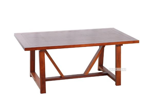 Picture of EILBY Dining Table  *1.8/2.2M * SOLID PINEWOOD & VENEER IN RICH