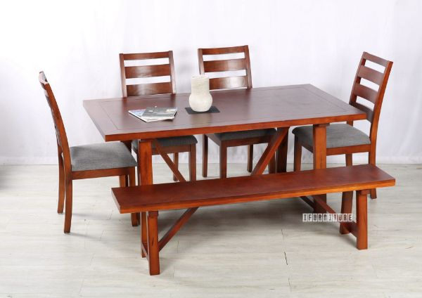 Picture of EILBY 180 Dining Set * SOLID PINEWOOD & VENEER IN RICH *GREY