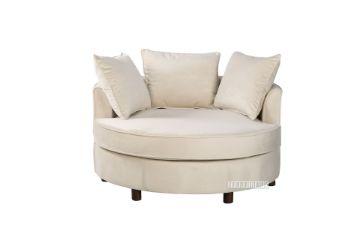 Picture of ASHTON Round Sofa/ Nest Chari in beige Fabric