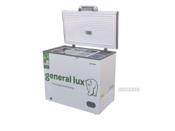 Picture of GENERAL LUX  200L CHEST FREEZER  WITH  LED LIGHT, GLASS SHELF & LOCK GLUX - 220F