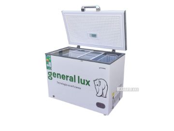 Picture of GENERAL LUX 285L CHEST FREEZER WITH LED LIGHT, GLASS SHELF & LOCK GLUX - 310F