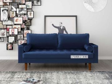Picture of Faversham 3+2 Sofa Range * Space Blue Velvet