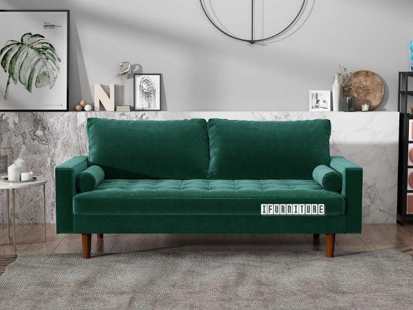 Picture of Faversham 3+2 Sofa Range *Green Velvet