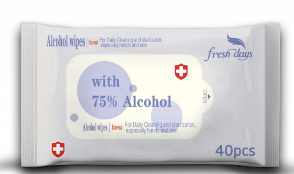 Picture of ANTIBACTERIAL WIPES PACK OF 40 - 75% ALCOHOL