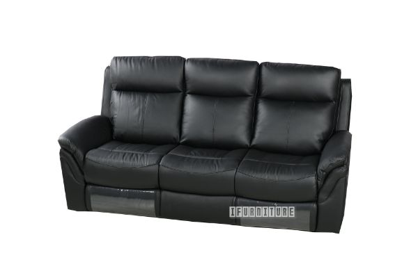 Picture of charcoal Reclining Genuine Leather Sofa *Full Leather