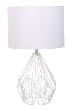 Picture of ML722606-1 Metal Wire Table Lamp * white