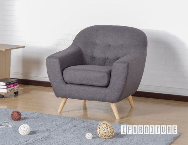 Picture of BRACKE Single Seater Sofa in Grey Color