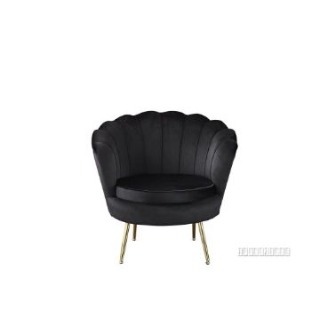 Picture of EVELYN CURVED FLARED ACCENT CHAIR* BLACK VELVET