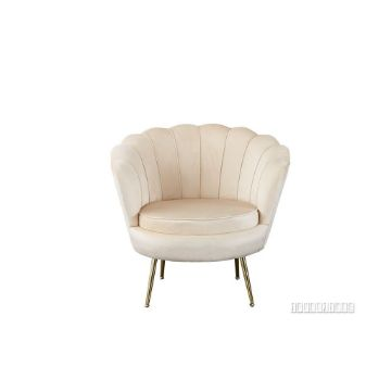 Picture of EVELYN CURVED FLARED ACCENT CHAIR* BEIGE VELVET
