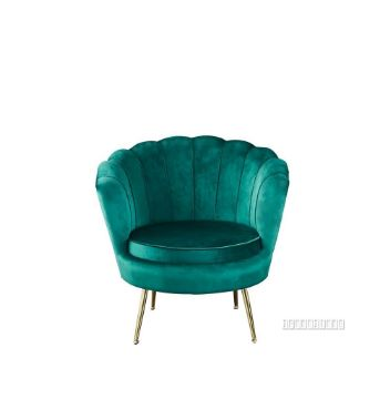 Picture of EVELYN CURVED FLARED ACCENT CHAIR* GREEN VELVET