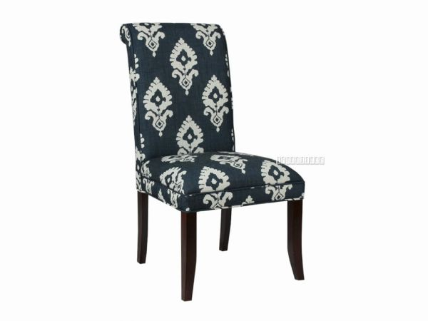 Picture of ANGELA LINEN UPHOLSTERED DINING CHAIR*NAVY IKAT