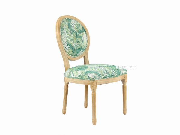 Picture of ELISE FRENCH UPHOLSTERED DINING CHAIR* GREEN