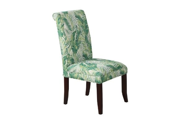 Picture of ANGELA LINEN UPHOLSTERED DINING CHAIR*GREEN LEAF