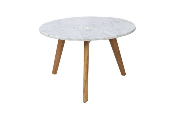 Picture of Copenhagen D50 Round Marble Coffee Table *Solid Oak