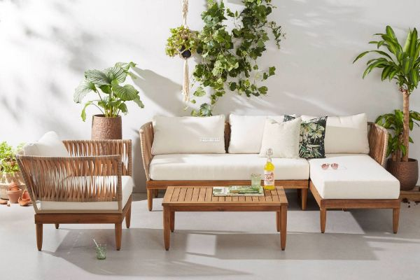 Picture of Elise Sectional Outdoor Wicker Sofa + Coffee Table Set