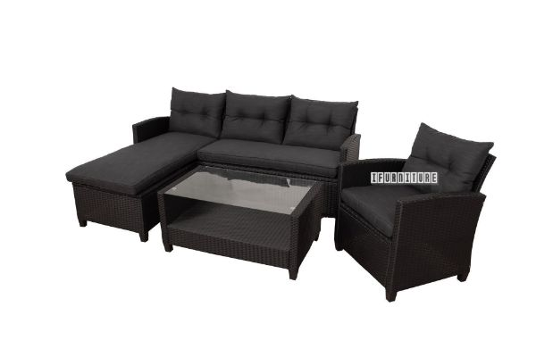 Picture of Aurora Rattan  Outdoor Sofa + Coffee Table Set
